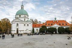Sw Kazimierz kościół, Warszawa Fotografia Stock
