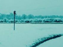 SW OK降雪 免版税图库摄影