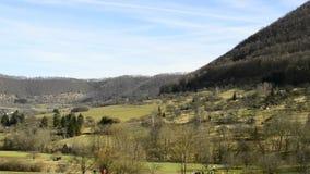 Swabian Alb, UNESCO nature protection area near Ueberkingen, spa town stock footage