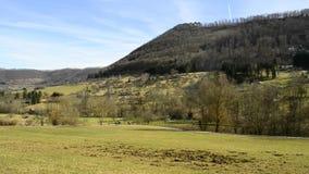 Swabian Alb, UNESCO nature protection area near Ueberkingen, spa town stock video
