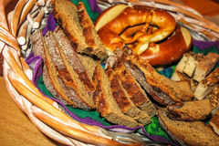 Swabian bread basket for supper Stock Photography