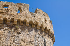Swabian Castle of Rocca Imperiale. Calabria. Italy. Stock Images