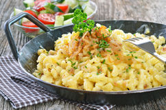 Swabian cheese noodles Stock Images