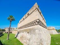 Swabian Kasteel, Oude Stad van Bari, Italië stock foto