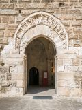 Swabian Kasteel van Castellosvevo in Bari, Apulia, zuidelijk Italië stock foto