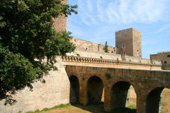 Swabian slott eller Castello Svevo, Bari, Apulia, Italien arkivfoto