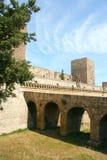 Swabian slott eller Castello Svevo, Bari, Apulia, Italien Arkivfoton