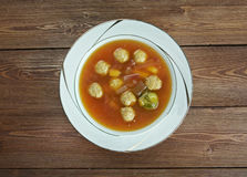 Swabian soup with meatballs Royalty Free Stock Photos