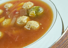 Swabian soup with meatballs Stock Images