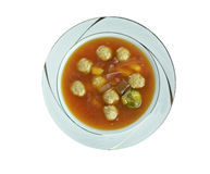 Swabian soup with meatballs Royalty Free Stock Image