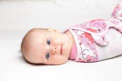 Swaddled infant Royalty Free Stock Photography