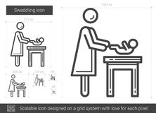 Swaddling line icon. Royalty Free Stock Photos