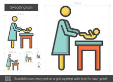 Swaddling line icon. Stock Photography