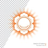 Swadhisthana. Chakra  isolated multicolored icon - for yoga studio, banner, poster. Editable concept. Swadhisthana. Chakra  isolated orange icon - for yoga Stock Photos