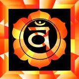 Swadhisthana chakra Royalty Free Stock Image