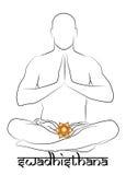 Swadhisthana chakra representation Royalty Free Stock Photography