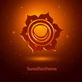 Swadhisthana chakra. Vector illustration of Swadhisthana chakra Royalty Free Stock Images