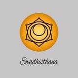 Swadhisthana Sacral chakra Symbolet av den andra mänskliga chakraen Arkivbilder