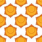 Swadhisthana - Sakralny Chakra Symbol drugi chakra Obrazy Stock