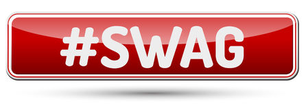 SWAG - Abstract beautiful button with text. Royalty Free Stock Photo