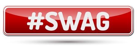 SWAG - Abstrakter schöner Knopf mit Text Lizenzfreies Stockfoto