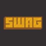 Swag banner. Pixel art style vector illustration royalty free illustration