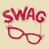 Swag glasses typography Royalty Free Stock Photos