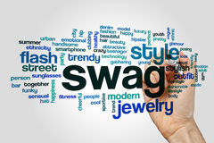 Swag word cloud. Concept on grey background Royalty Free Stock Images