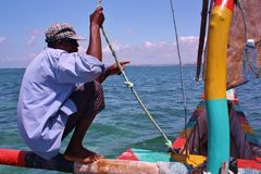 Swahili sailor. Kenya. Stock Photo