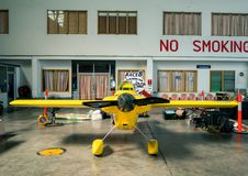 Swaid L Rahn没有` s的飞机 8个`心脏冲程`航空器塑造在空气种族1世界杯泰国的Cassutt III-M 2017年在U-Tapao空军基地 库存照片