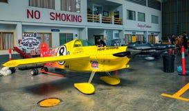 Swaid L Rahn没有` s的飞机 8个`心脏冲程`航空器塑造在空气种族1世界杯泰国的Cassutt III-M 2017年在U-Tapao空军基地 库存图片