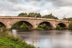 Swalkstone Bridge Derbyshire. Swakestone bridge derbyshire crossing the river trent Stock Images
