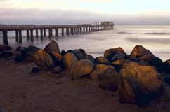 Swakopmund jetty. During the dusk Royalty Free Stock Images