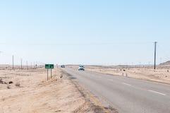 B2-road between Swakopmund and Arandis Royalty Free Stock Image