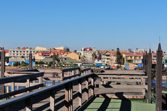 Swakopmund from the old historic German jetty Stock Photo