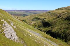 Swaledale from Buttertubs Pass in Yorkshire Dales Stock Photography