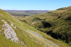 Swaledale van Buttertubs-Pas in de Dallen van Yorkshire Stock Fotografie