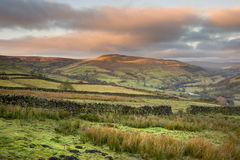 Swaledale in Yorkshire Dales National Park at sunrise  Royalty Free Stock Image