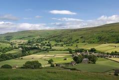 Swaledale. Yorkshire. England. Landscape photo of Swaledale England Royalty Free Stock Photography