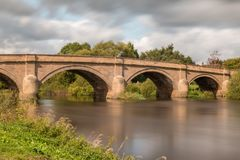 Swalkstone Bridge Derbyshire. Swarkstone Bridge over the river trent derbyshire Stock Photo