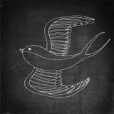 Swallow bird illustration Stock Image