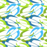 Swallow birds seamless pattern Stock Images