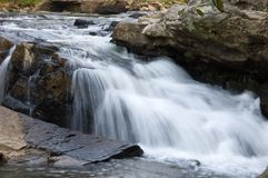 Swallow falls in MD, USA #1. One part of the swallow falls waterfall of Youghiogheny river Royalty Free Stock Photos