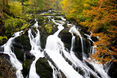 Swallow Falls, north Wales, Snowdonia Stock Photos