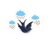 Swallow flat illustrations Stock Image