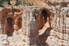 Swallow Heaven at Bryce Canyon. Caves at Bryce Canyon for the birds it seems. Swallows were more evident in this area Stock Image