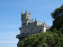 The swallow nest. Is the name of micro castle nearby the sea in Crimea, Ukraine Stock Photos