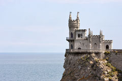 Swallow nest castle sideview Royalty Free Stock Image