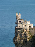 Swallow nest Castle sideview. Swallow Nest castle side-view in Crimea Ukraine Royalty Free Stock Image