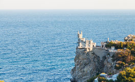Swallow Nest castle on South Coast of Crimea Royalty Free Stock Photography